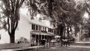 Goodhue's Store faced the South Green in Ipswich