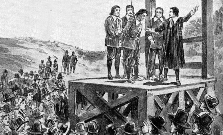 Hanging of a Puritan for abuse of a child