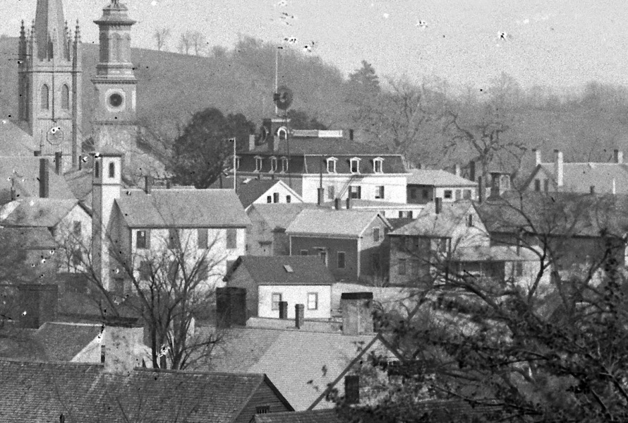 Meeting House Green from Town Hill, Ipswich 1900