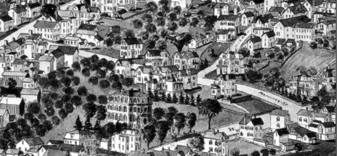 Manning Street from the 1893 Birdeye Map of Ipswich.