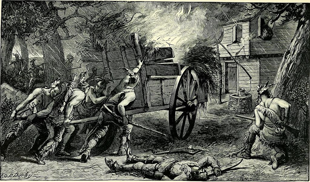 Metacomet's forces attacked the settlement at Brookfield and tried to set it on fire.