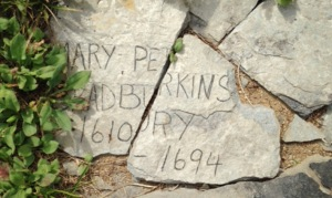 Mary Perkins Bradbury charged as a witch