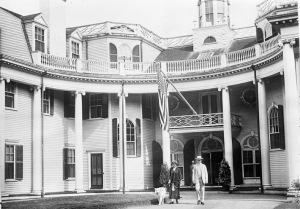 The Coolidge family at their Swampscott estate