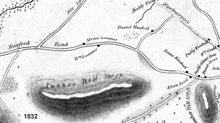 Linebrook Road 1832 showing the Lummus houses