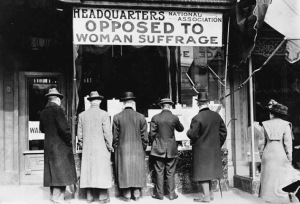 Massachusettts women who opposed woman suffrage