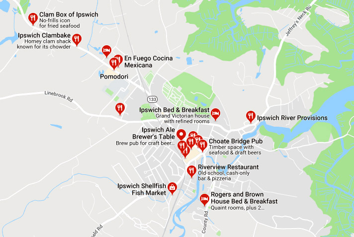 Ipswich Restaurants and inns on Google Maps