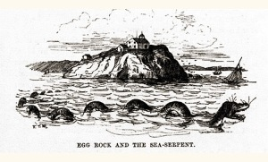 Sea Serpent at Egg Rock in Nahant