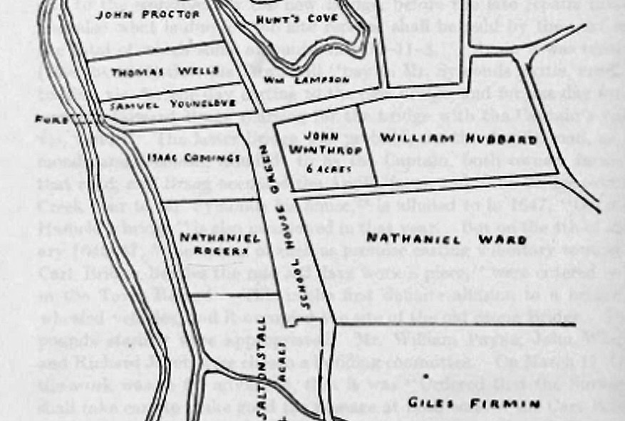 6 acres at the corner of Poplar St. and County Rd. were originally granted to John Winthrop Jr., leader of the settlers who founded Ipswich.