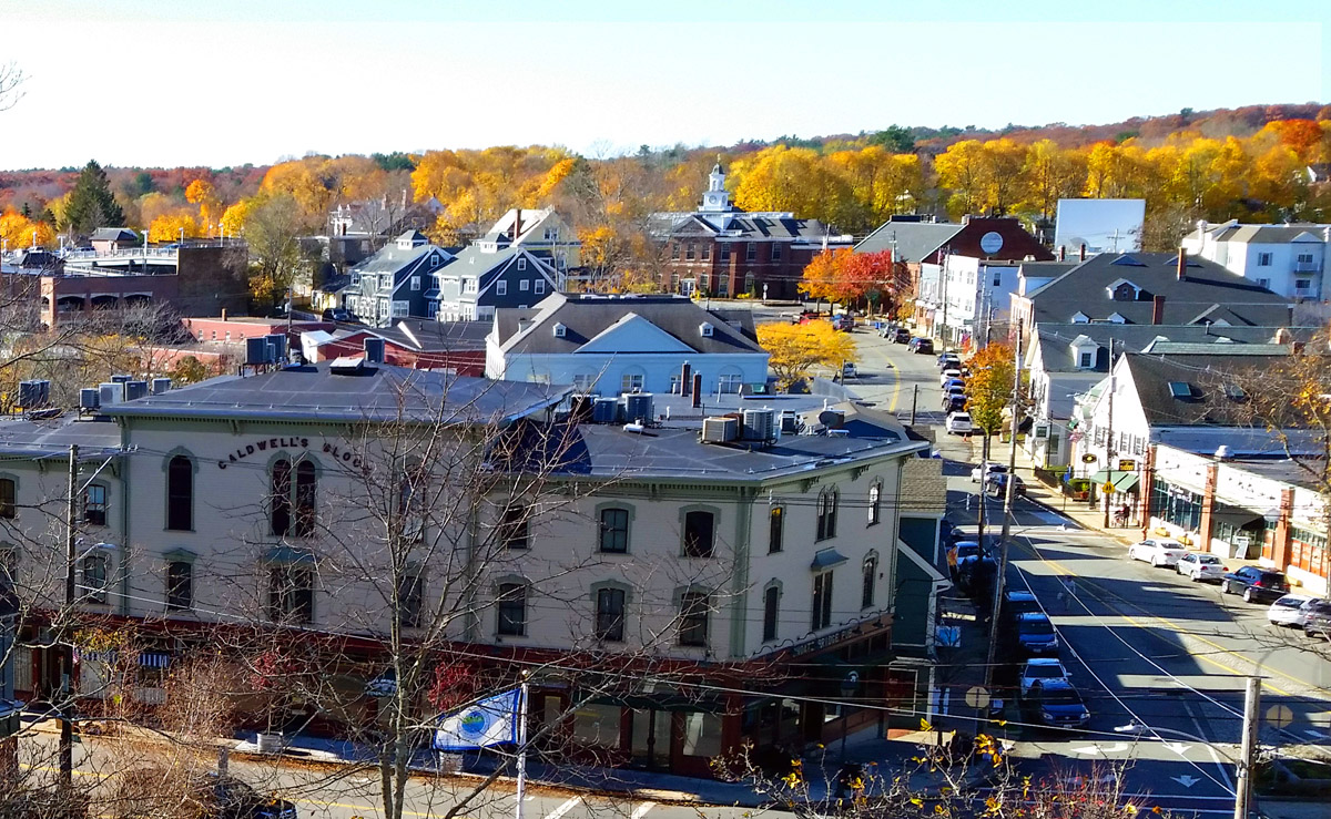 View of Ipswich from the Thomas Manning house roof