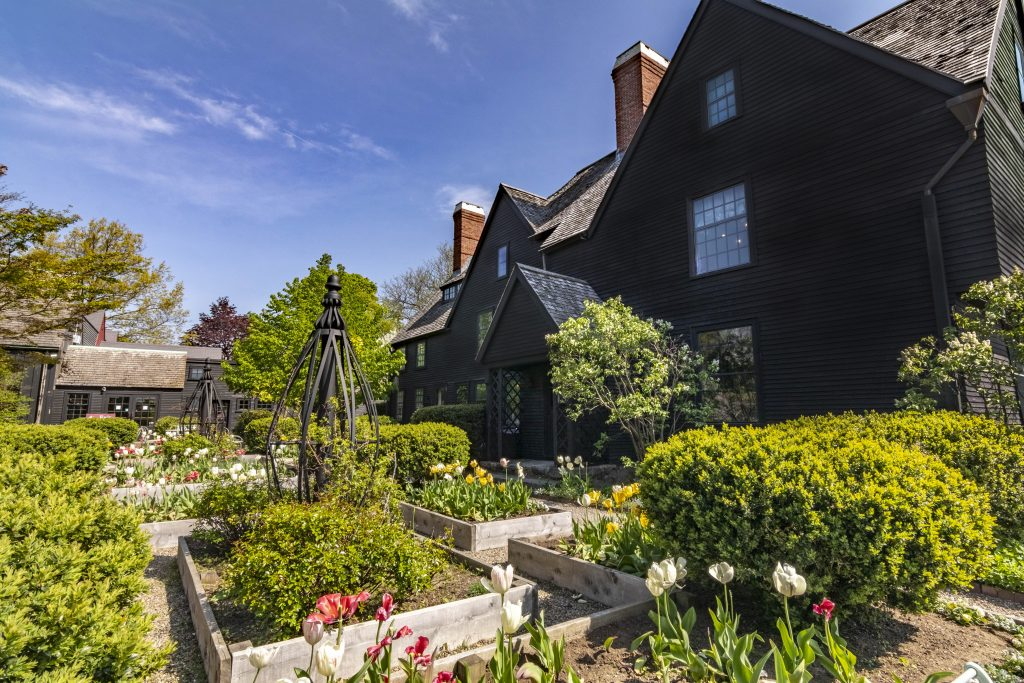 Garden at the House of Seven Gables in Salem