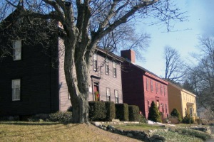 First Period houses on High Street in Ipswich Ma