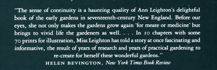 Review of Early American Gardens