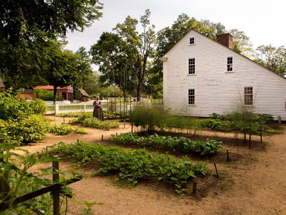 The Parsonage garden at Old Sturbridge Village.