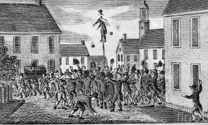 Stamp Act protest in New Hampshire