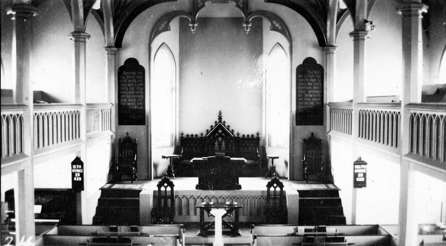 Inside First Church, early 20th Century