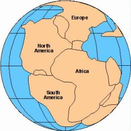 Map of Pangea