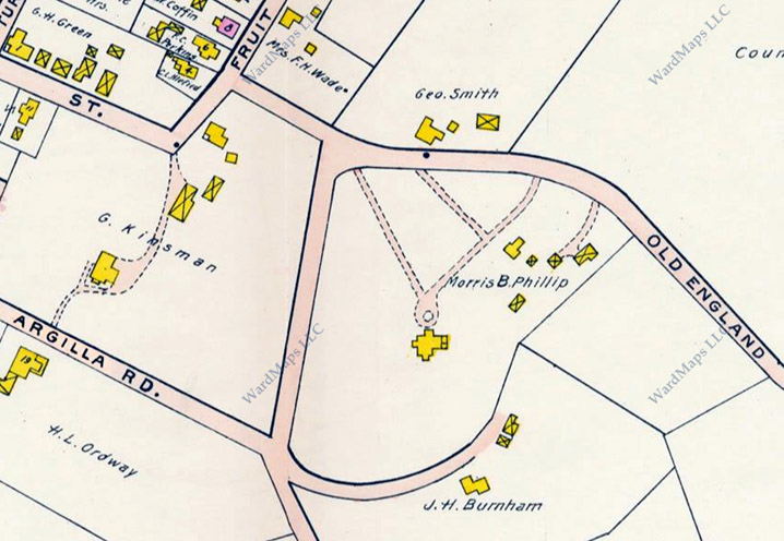 1910  Ipswich Map, Old England Rd.