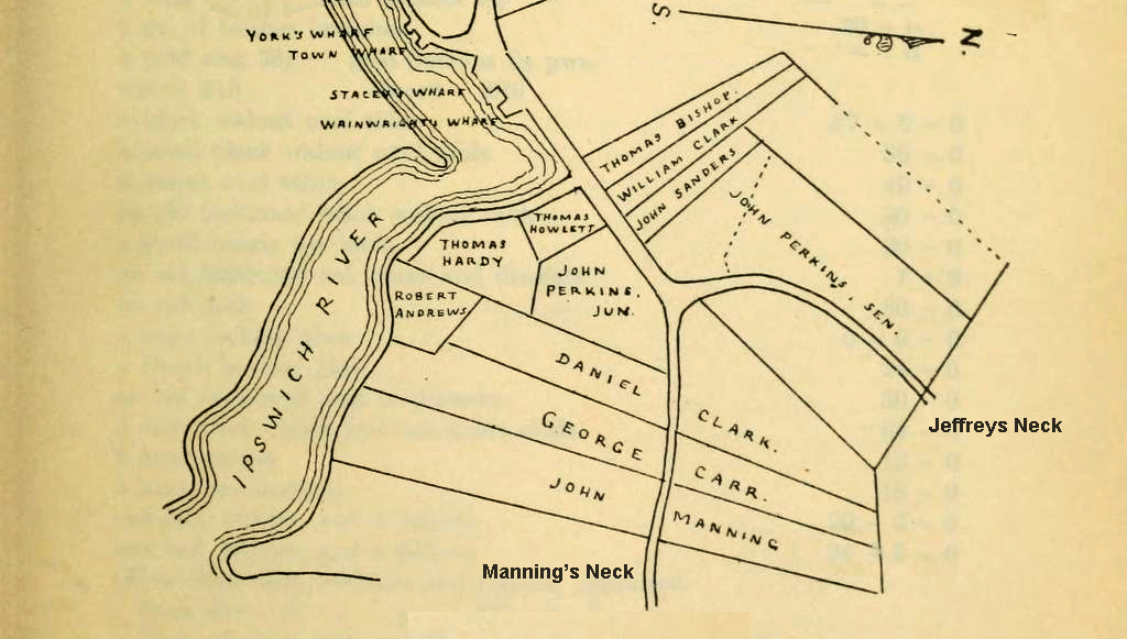 Mannings Neck in 1634