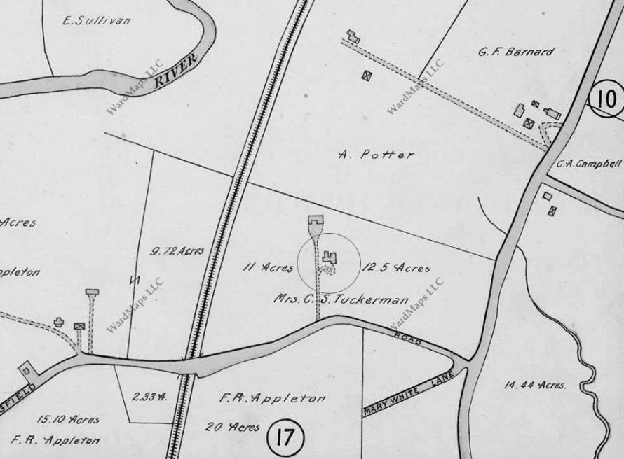 1910 Ipswich map showing Waldingfield Rd.