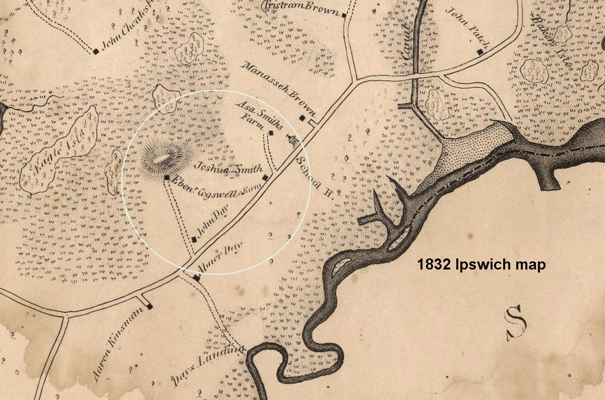 1832 map of Argilla Rd.