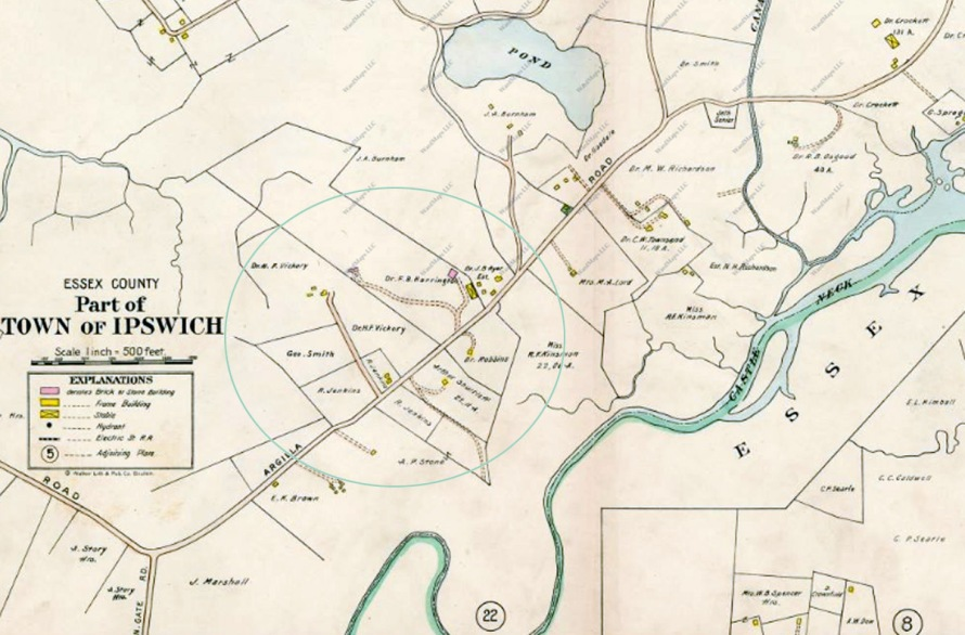 1910 Ipswich map of Argilla Rd.