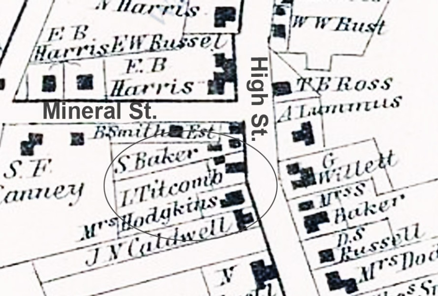 High St. Ipswich 1872 map