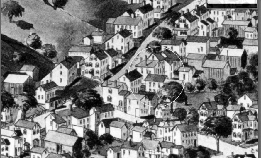 44 High Street Ipswich MA in the 1894 Birdseye Map