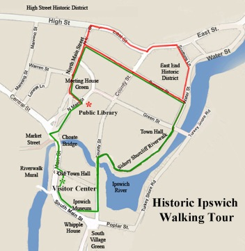 Historic Ipswich Walking tour short and long versions