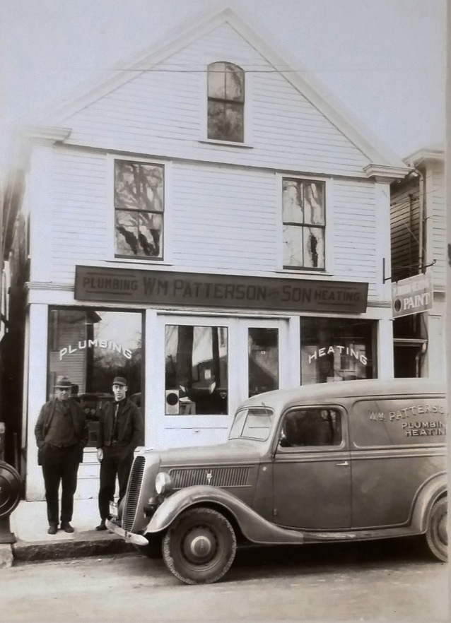 William Patterson and Son plumbing and heating, South Main St., Ipswich MA.