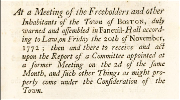 Boston circular let ter 1772