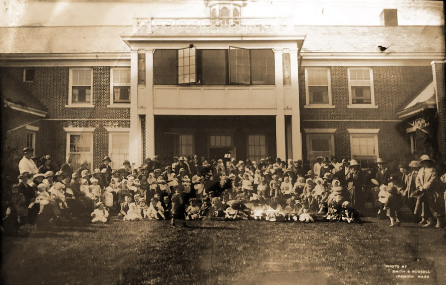 Photo taken in 1925 of all the babies who had been born at Cable Hospital in Ipswich