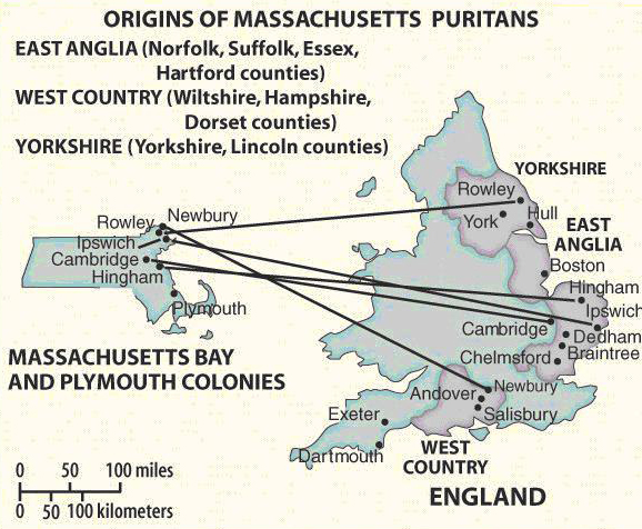 English origins of the Great Migration