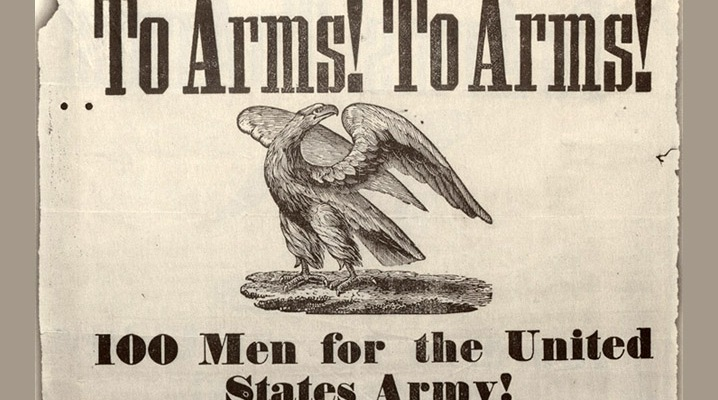 Mexican American war recruiting poster