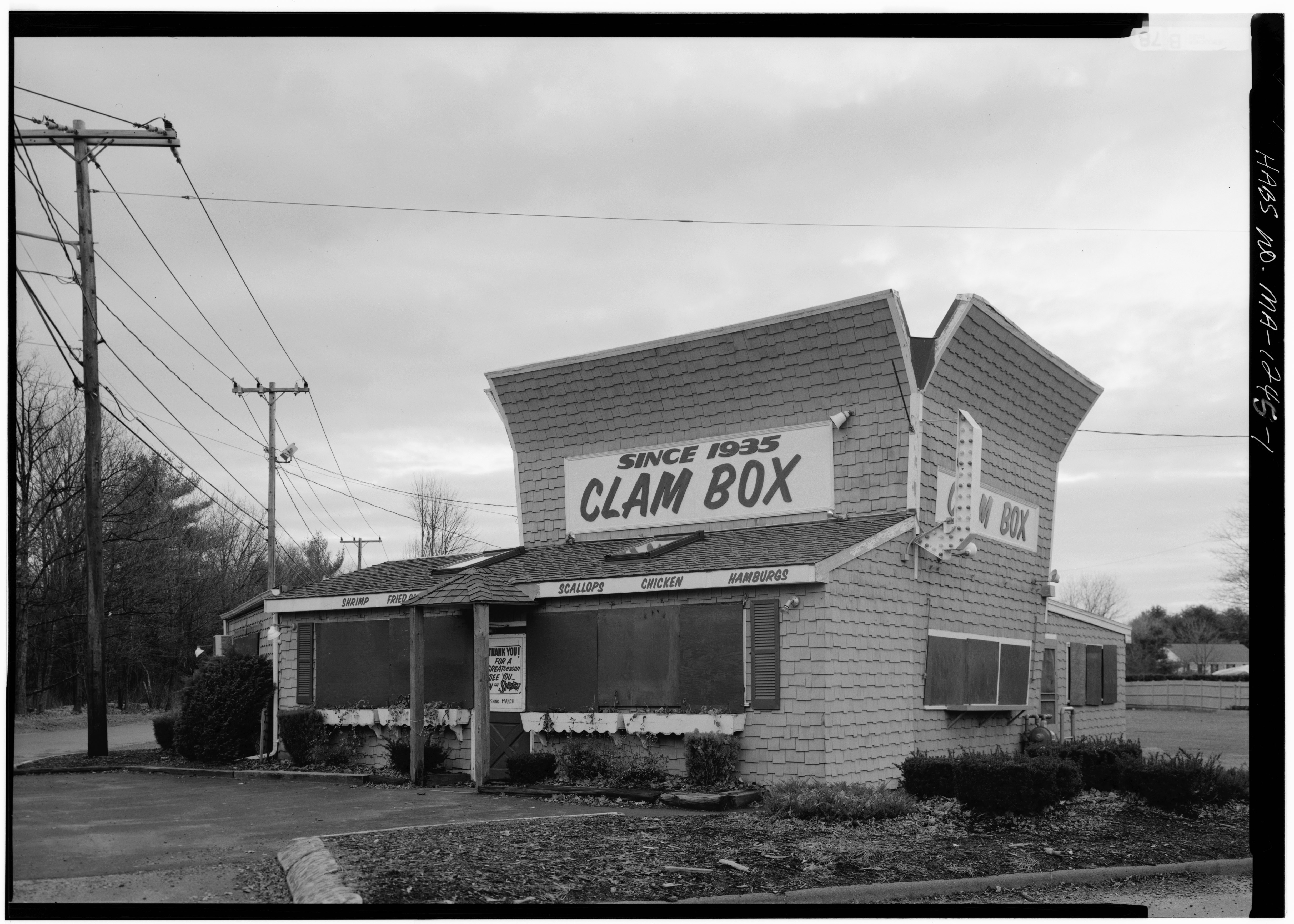 Ipswich Clam Box in 1945, from the Library of Congress site