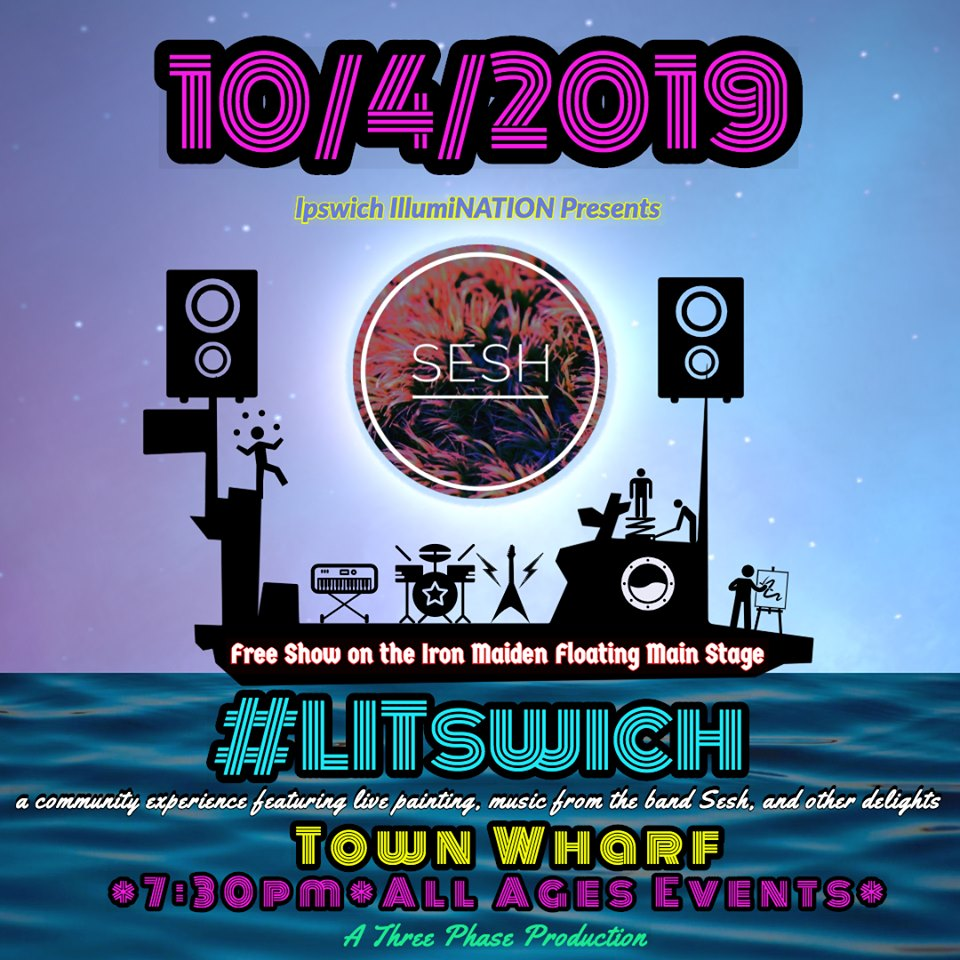 Litswitch at the Ipswich Town Wharf
