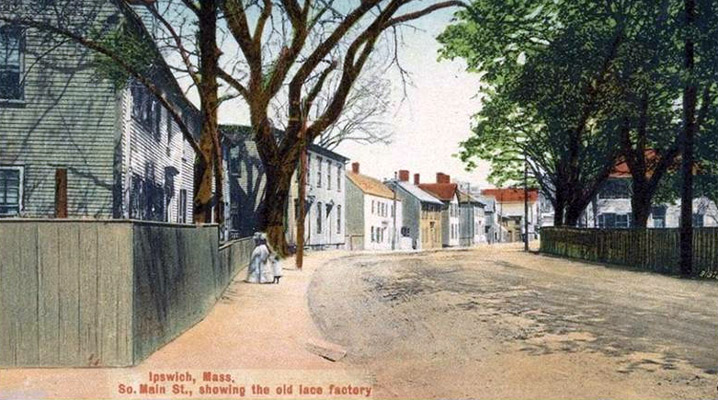 Postcard of South Main Street in Ipswich, early 20th Century