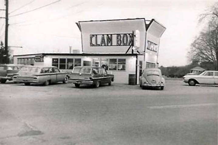 The Clam Box Ipswich MA, about 1960