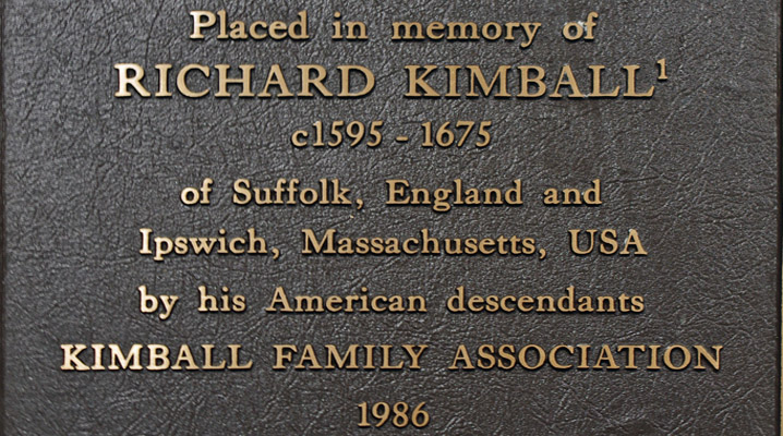 Richard and Ursula Scott Kimball of Rattlesden, who settled in Ipswich