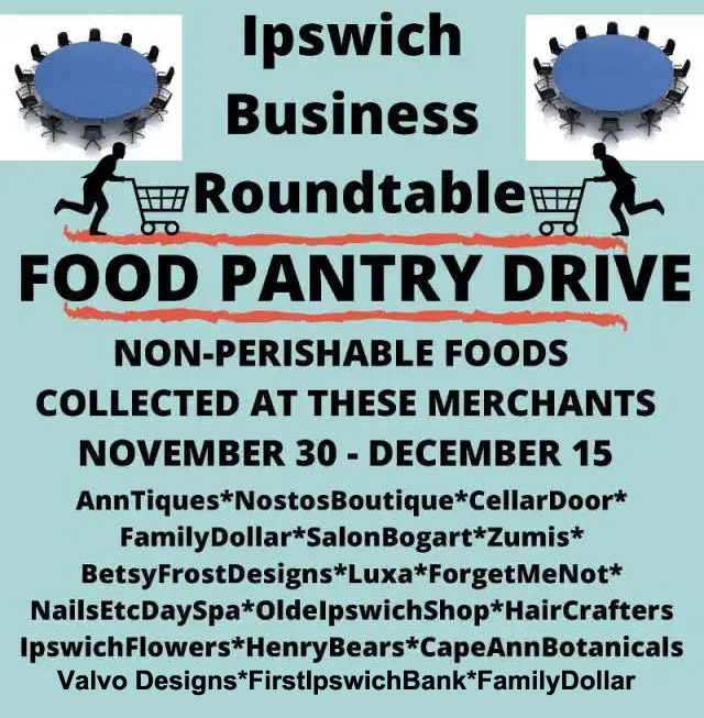 Ipswich Business Roundtable food drive
