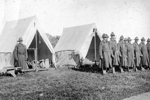 The National Guard at Cable Hospital in Ipswich during the Spanish Flu epidemic