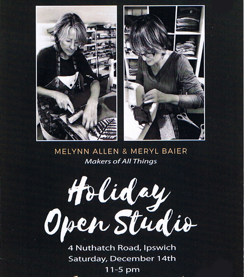 Melynn Allen and Meryl Baier Holiday Open Studio