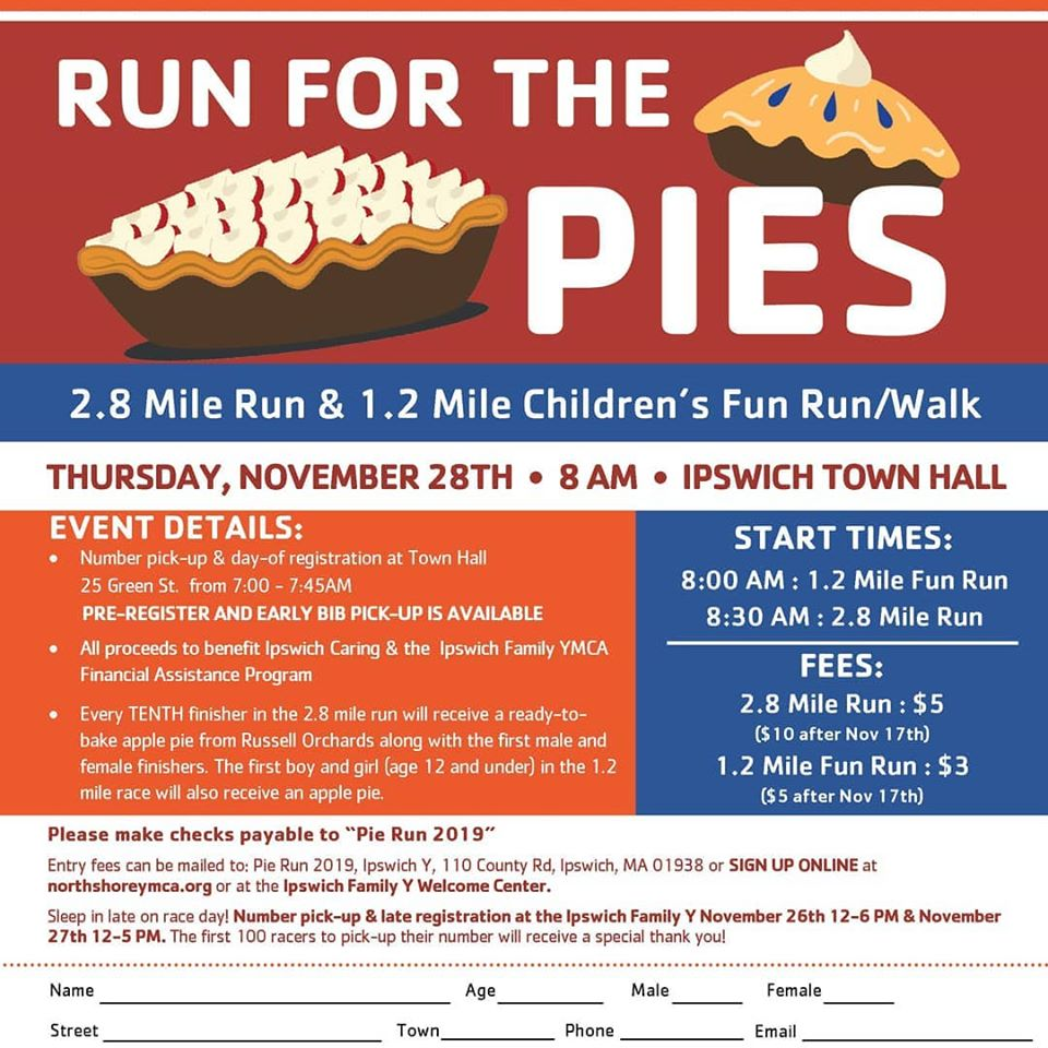 Ipswich MA Run for the Pies race