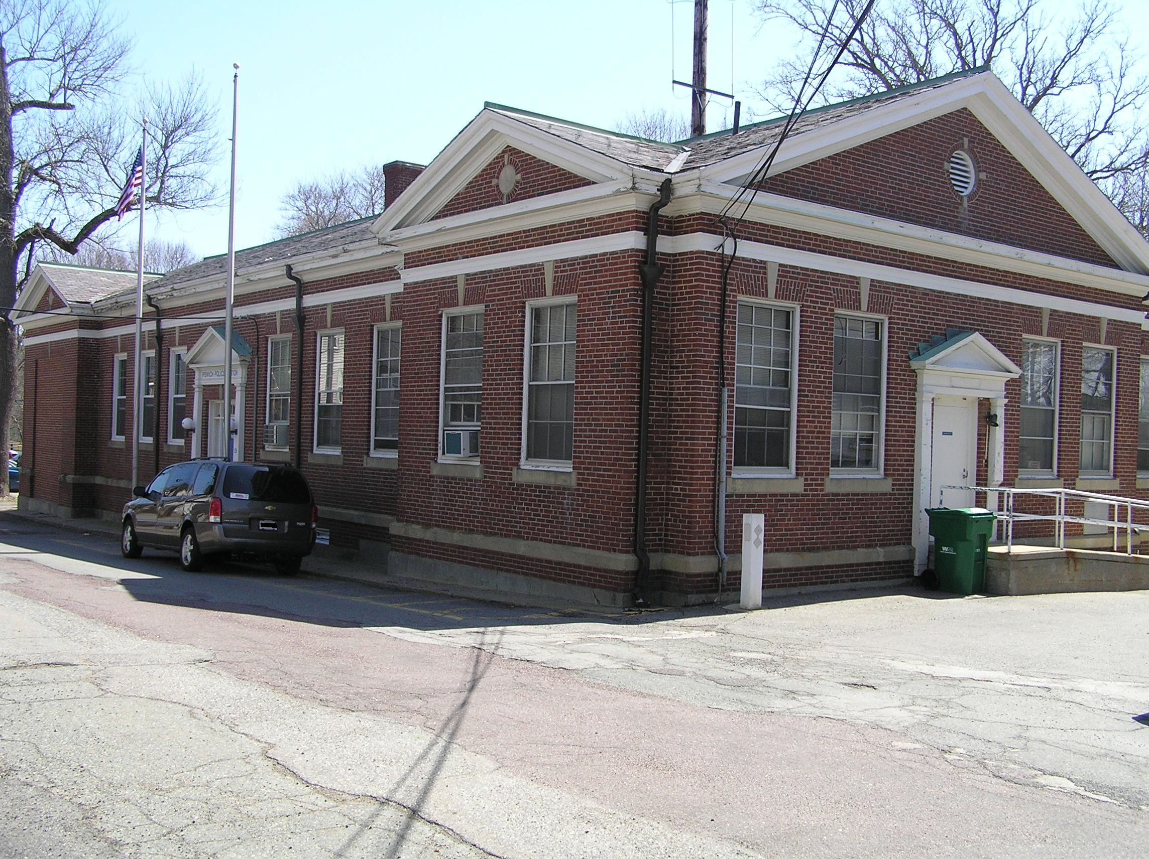 The Ipswich Police Department was formerly the Electric Department, constructed in 1938.