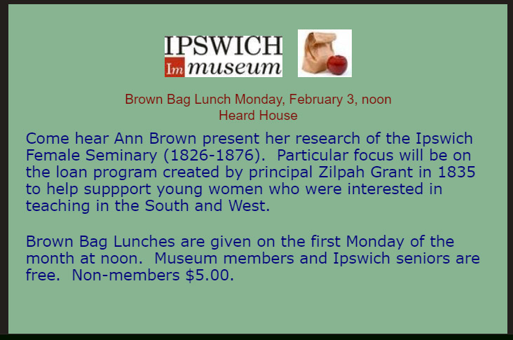Ipswich Museum BrownBag Lunch