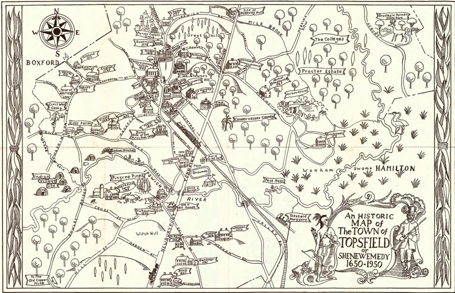 Historic map of the Town of Topsfield