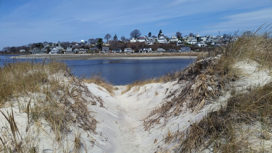 Dune entrance at Steep Hill Beach.