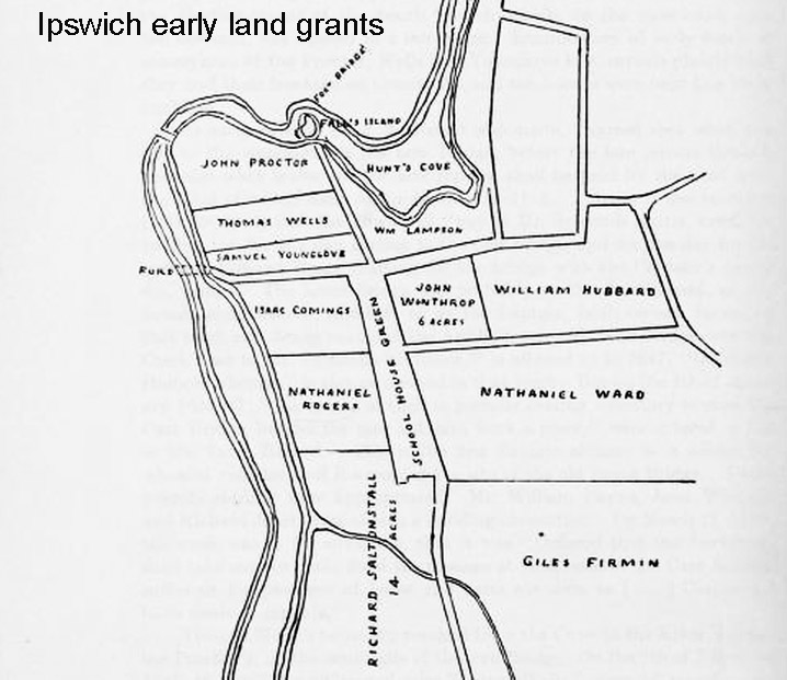 Land grants south green Ipswich