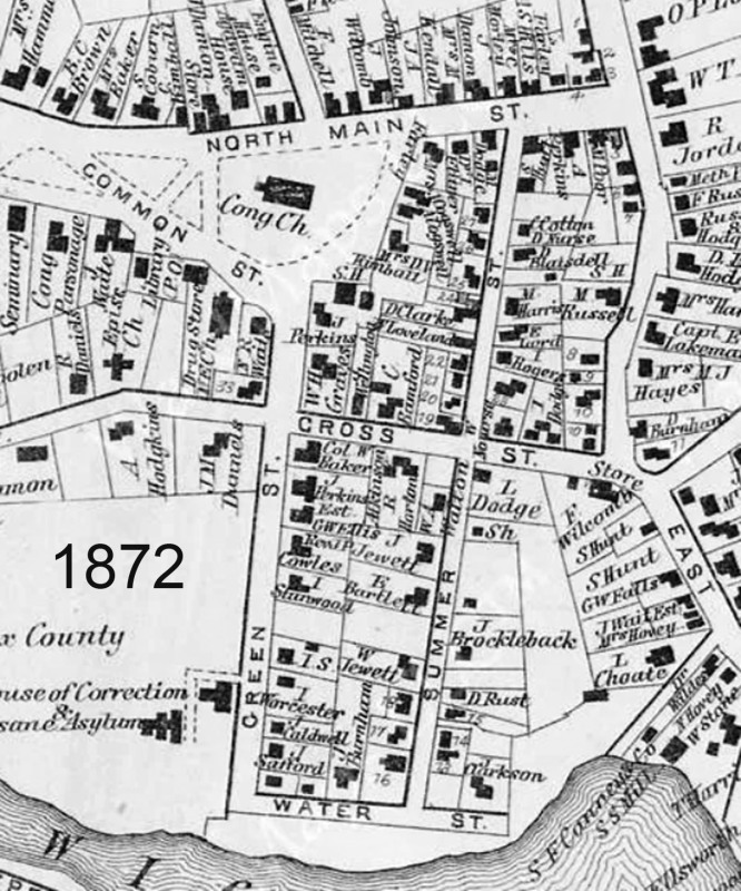 1872 Ipswich map of Summer St.