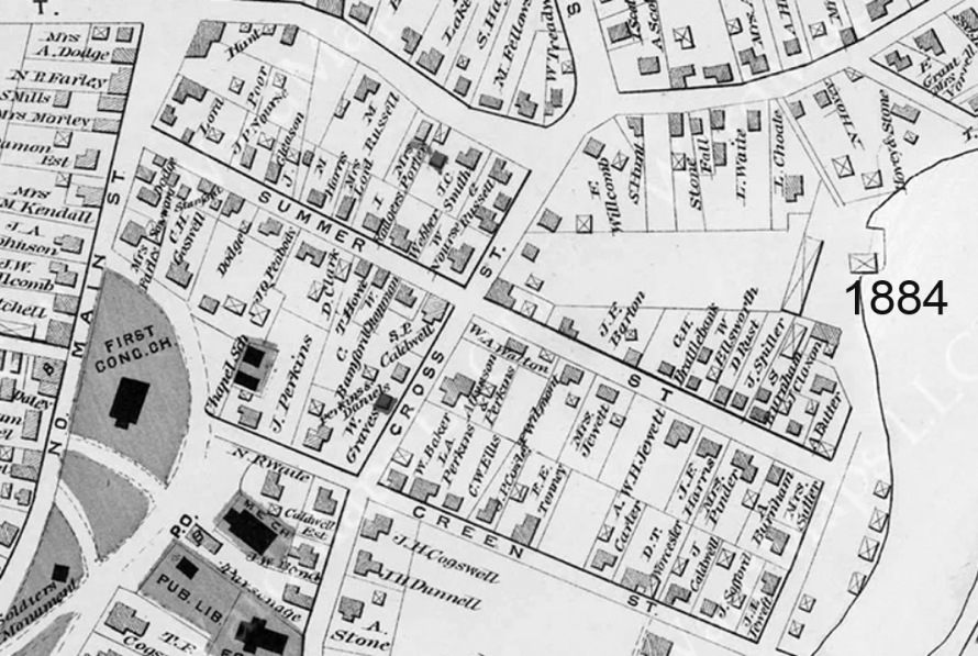 1884 Ipswich map of Summer St.