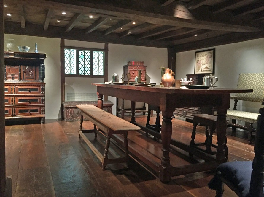Original upstairs room from the Hart House in the Winterthur Museum